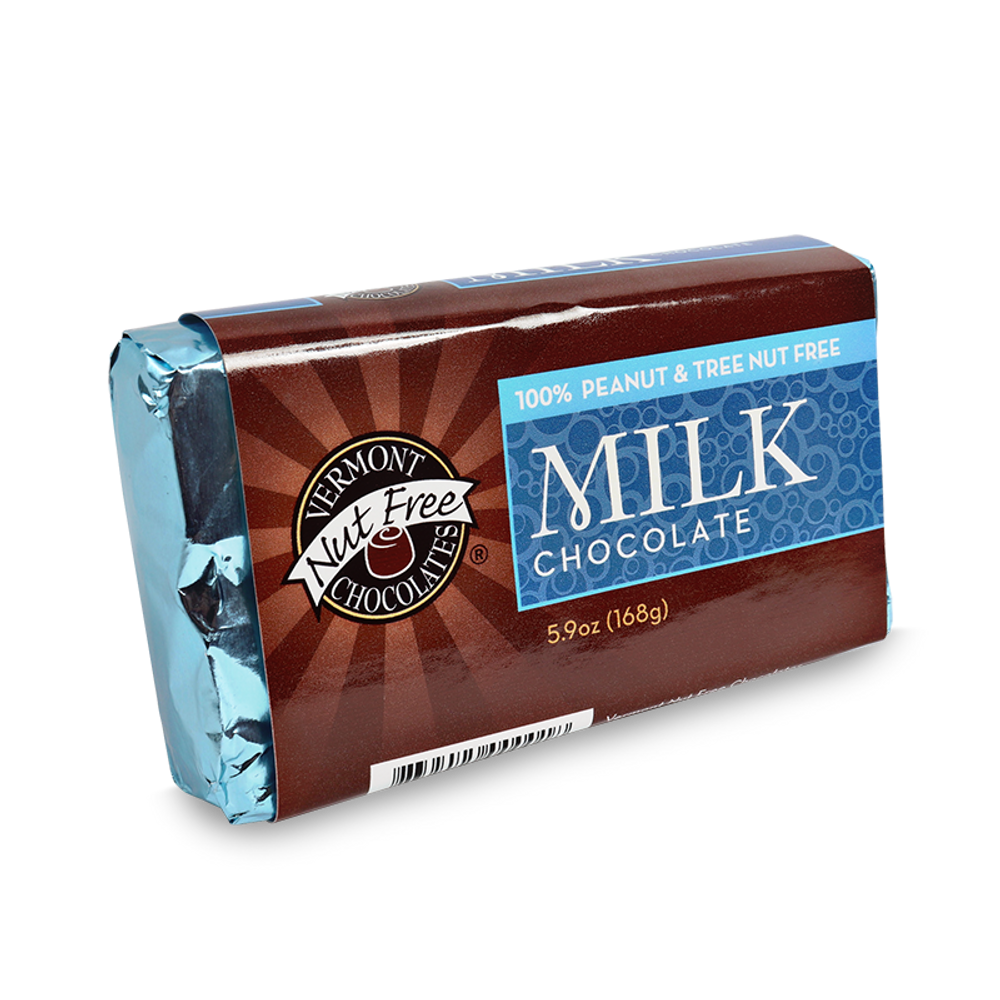 Vermont Nut Free Chocolates Milk Chocolate Bar
