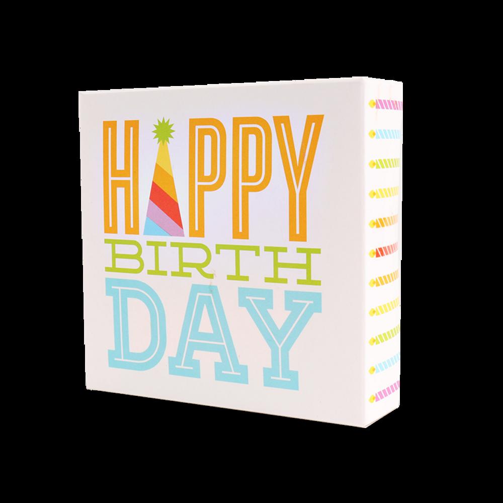 Happy Birthday 4pc Swiss Fudge Box