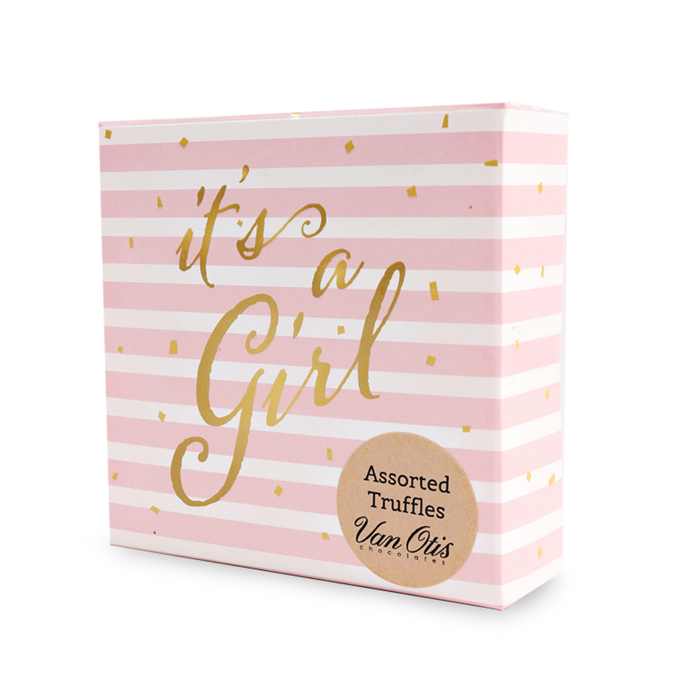 It's a Girl 4pc Assorted Truffles Box