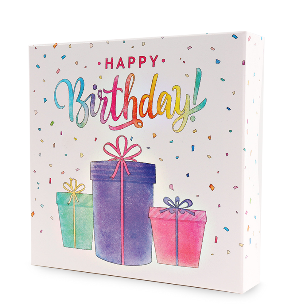 Happy Birthday 9pc Assorted Chocolates Box