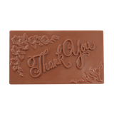 Milk Chocolate Floral Thank You Bar