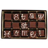 Stay at Home! Medium Custom Swiss Fudge Box