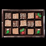 Happy Holidays - Medium Custom Swiss Fudge Box