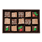 Happy Holidays - Medium Custom Swiss Fudge Box