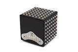 SPIKES - Black leather / Silver