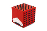 SPIKES - Red leather / Black