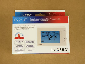 Touchscreen Thermostat, digital, 2 stage heat / 1 stage cool, 24V