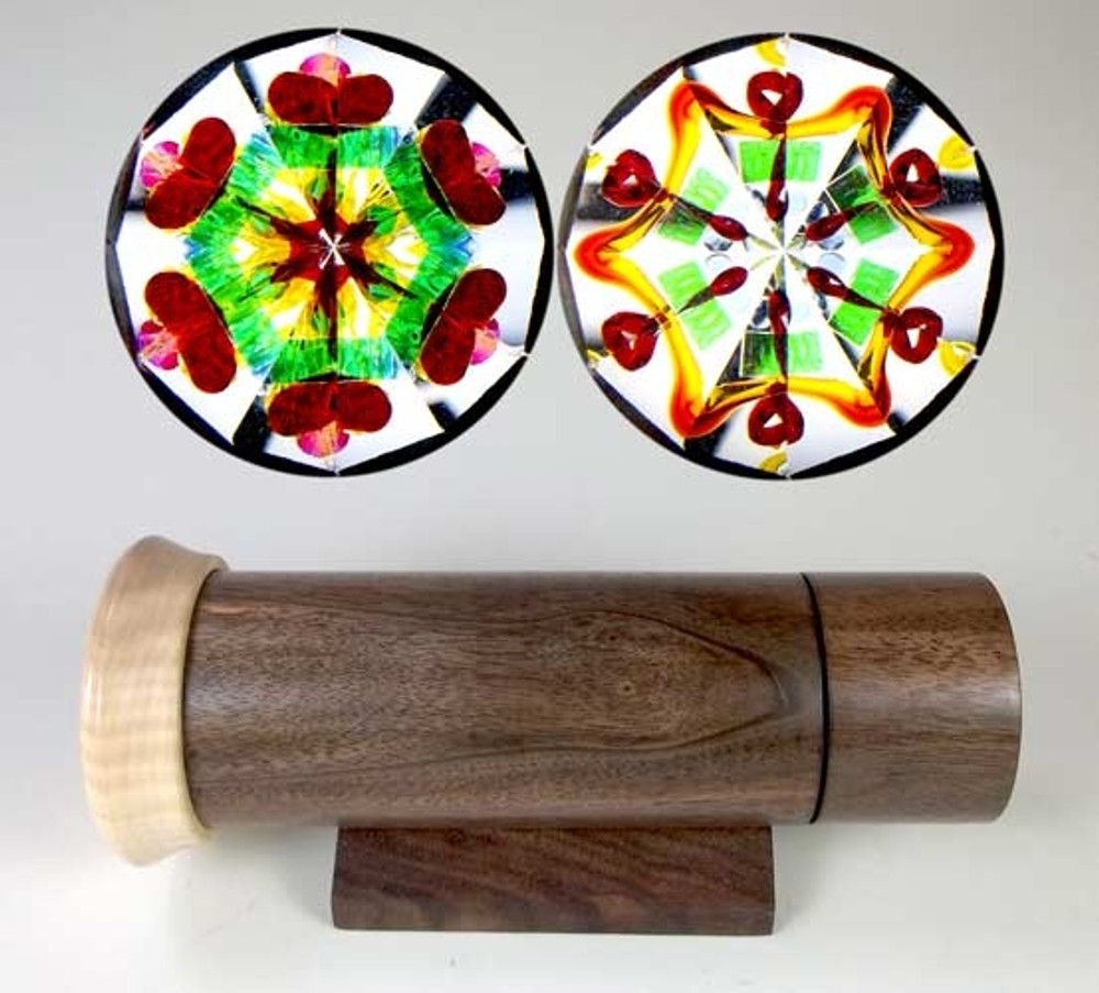 Handheld Kaleidoscope in Figured Walnut & Ambrosia Maple