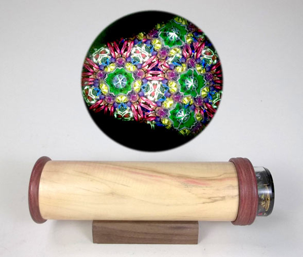 Solid Wood Handheld Kaleidoscope 2