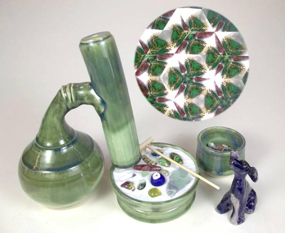 Green Zen Garden Kaleidoscope