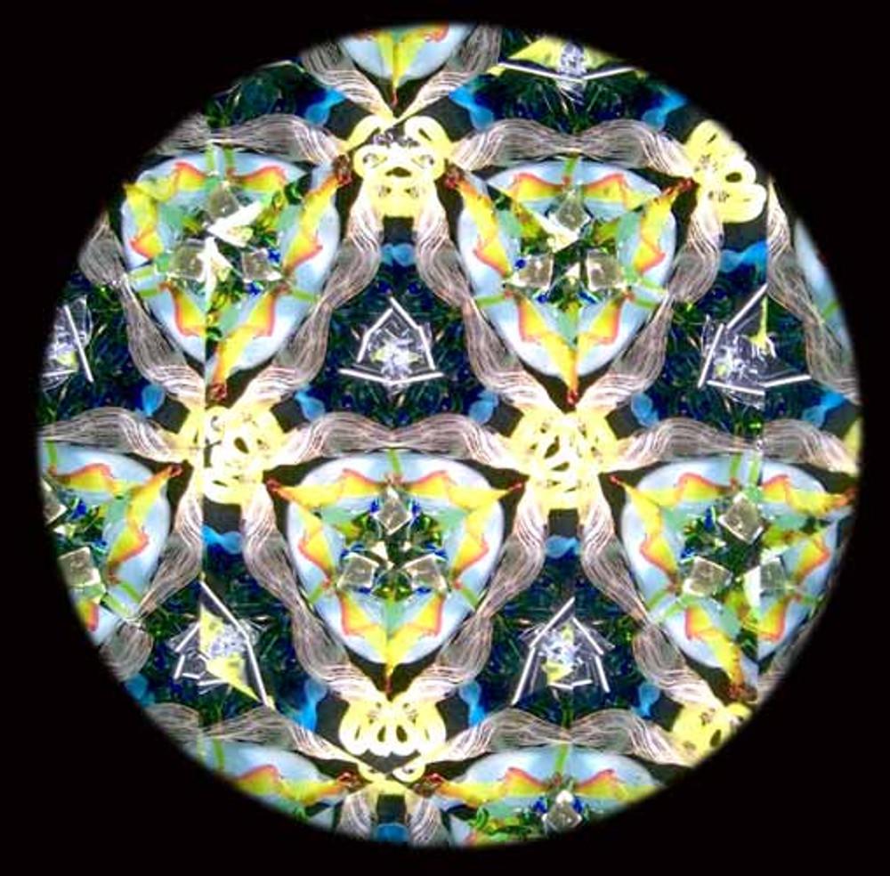 Wooden Green Handheld 3-mirror Kaleidoscope