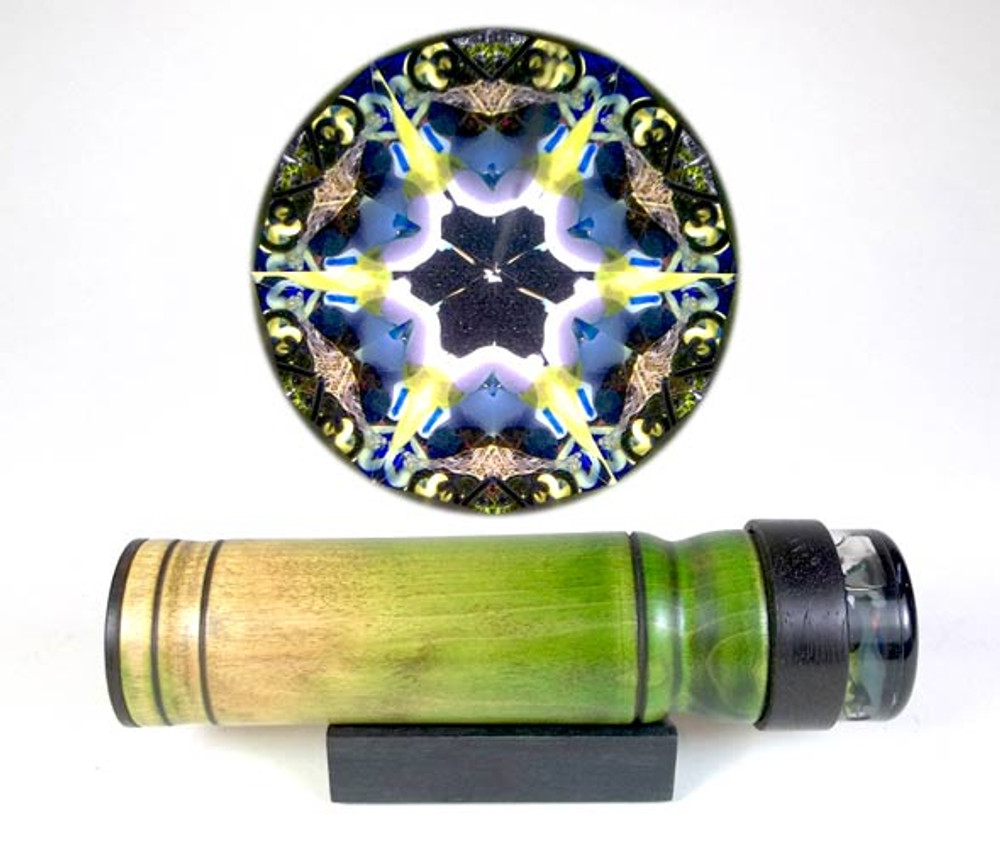 Wooden Green Handheld 2-mirror Kaleidoscope