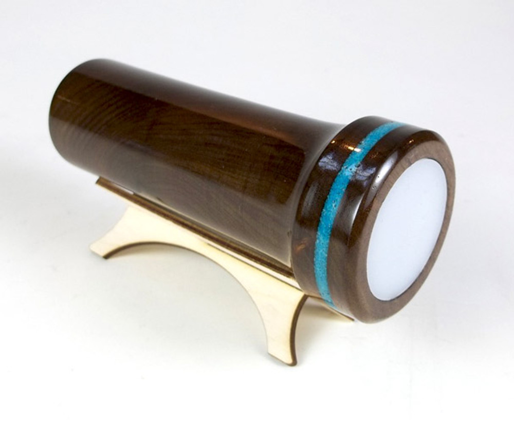 Wooden Handheld with Turquoise Band