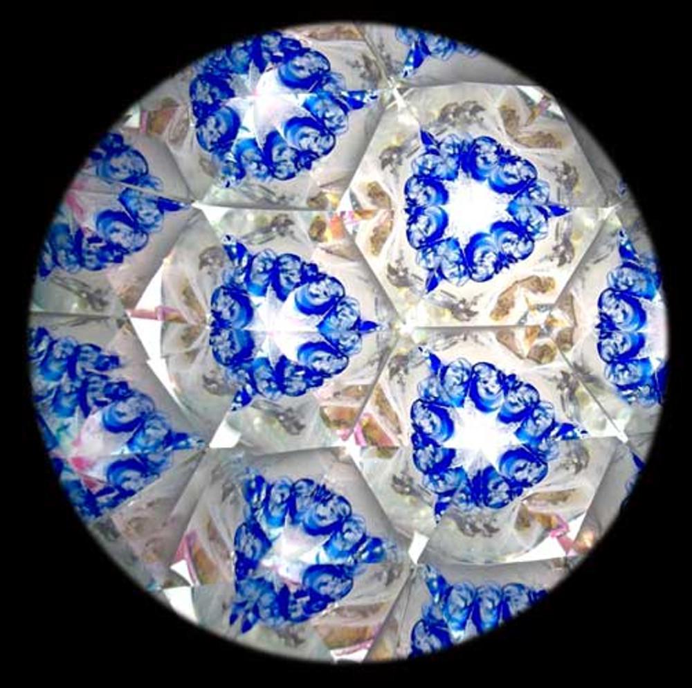 Handheld Kaleidoscope with Large Object Marble
