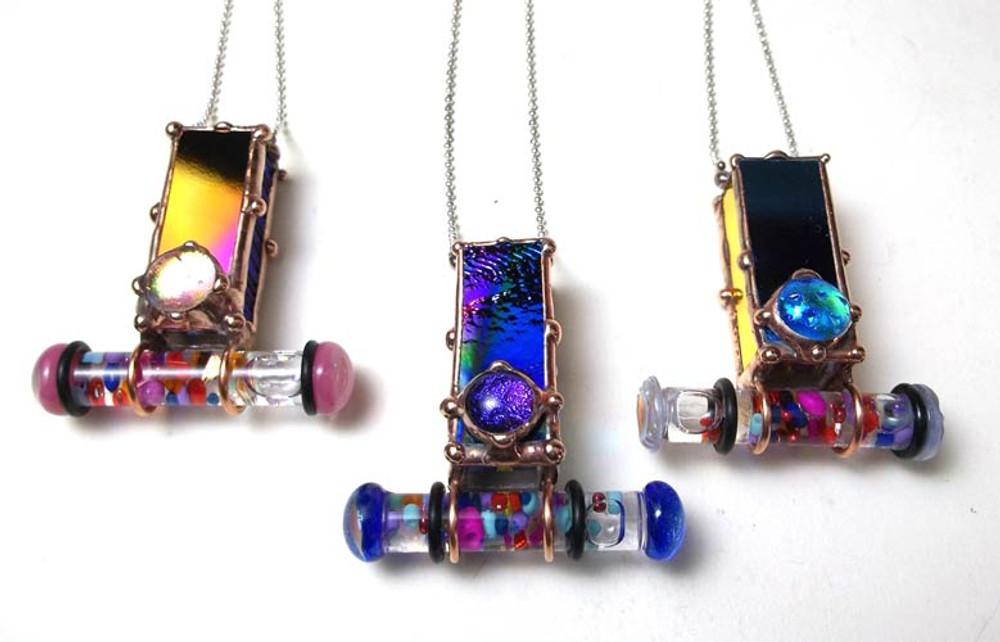Small Jewelry Box Kaleidoscope Necklace