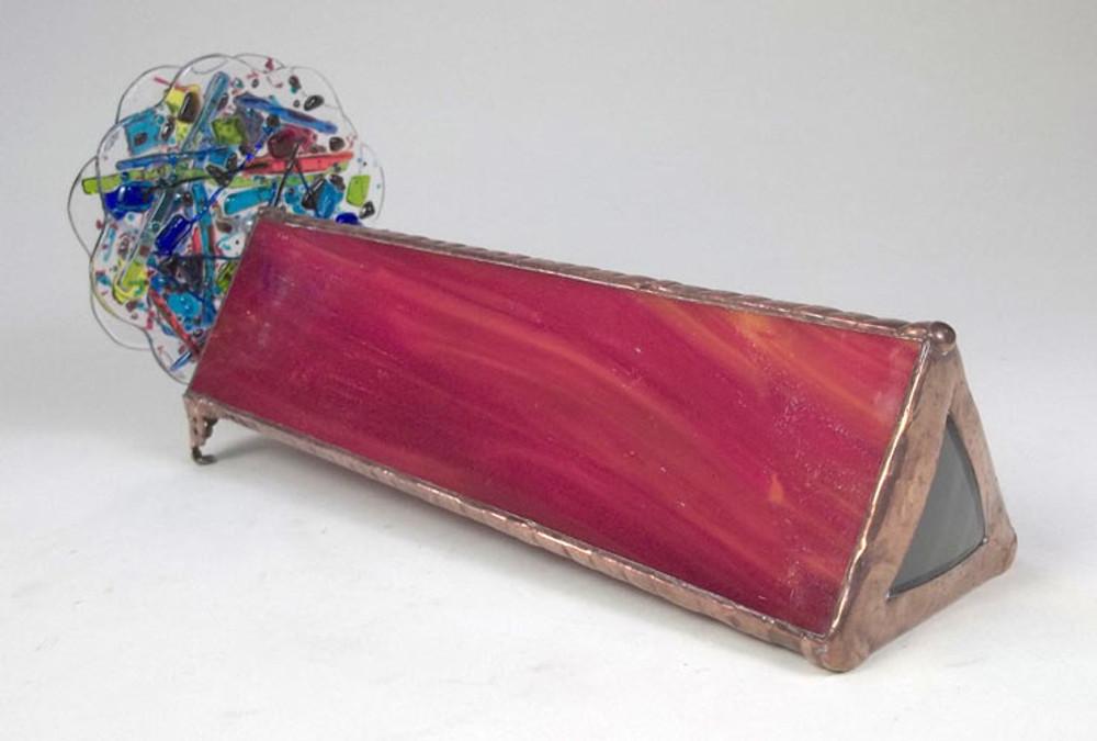 Red Glass 2-Wheel Handheld