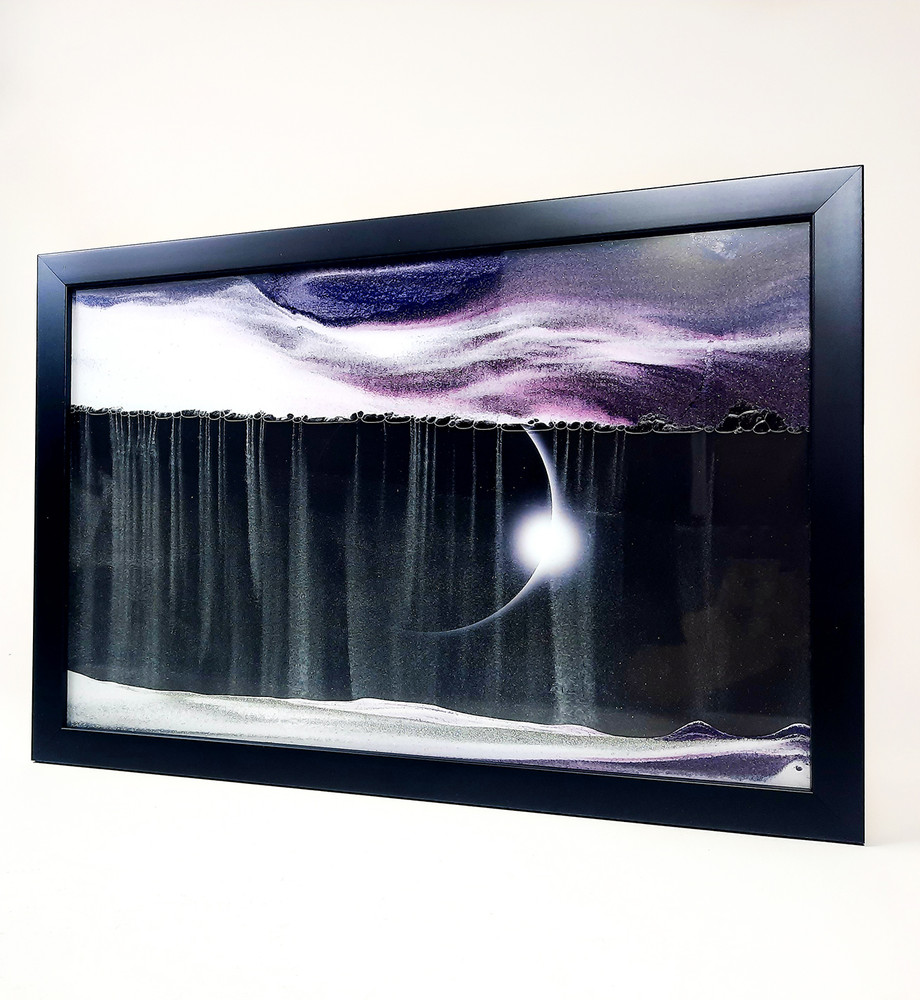 Purple Eclipse Sand Art