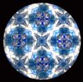 Handheld Kaleidoscope in Dark Blue with Butterflies