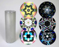 Small Brushed Stainless Steel Kaleidoscope 2-mirror
