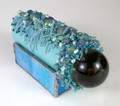 Beaded Blue Leather Teleidoscope