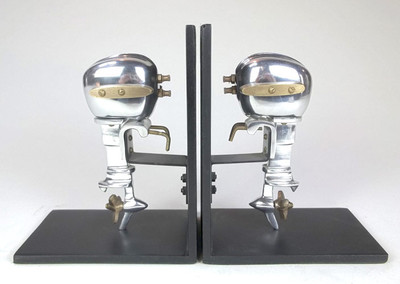 Outboard Motor Bookends Aluminum