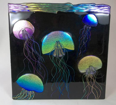 Dichroic Jellyfish Wall Art