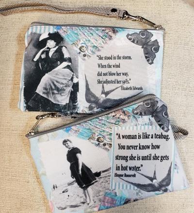 Eleanor Roosevelt Quote - Wristlet