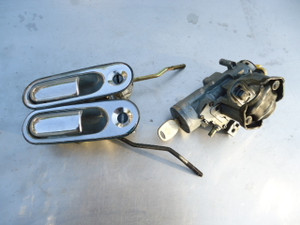 "? ""rare"" Eunos Roadster NA6CE Key cylinder Key door Outer handle set"