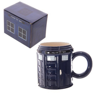 Ceramic Police Box Mug. Great for Dr Who Fans