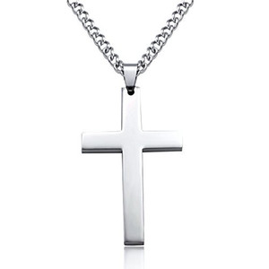 Jstyle Jewelry Stainless Steel Mens Cross Necklace Women Pendant Charms 61cm