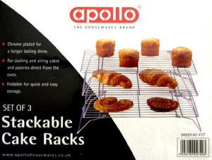 3 Stackable cake cooling rack - Wire frame