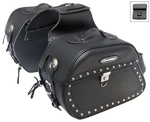 New Oxide 40L Premium Tek Leather lockable cruiser saddle bags, travel panniers