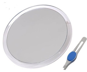 DB-Tech Large 20cm Suction Cup 8X Magnifying Mirror with Precision Tweezers