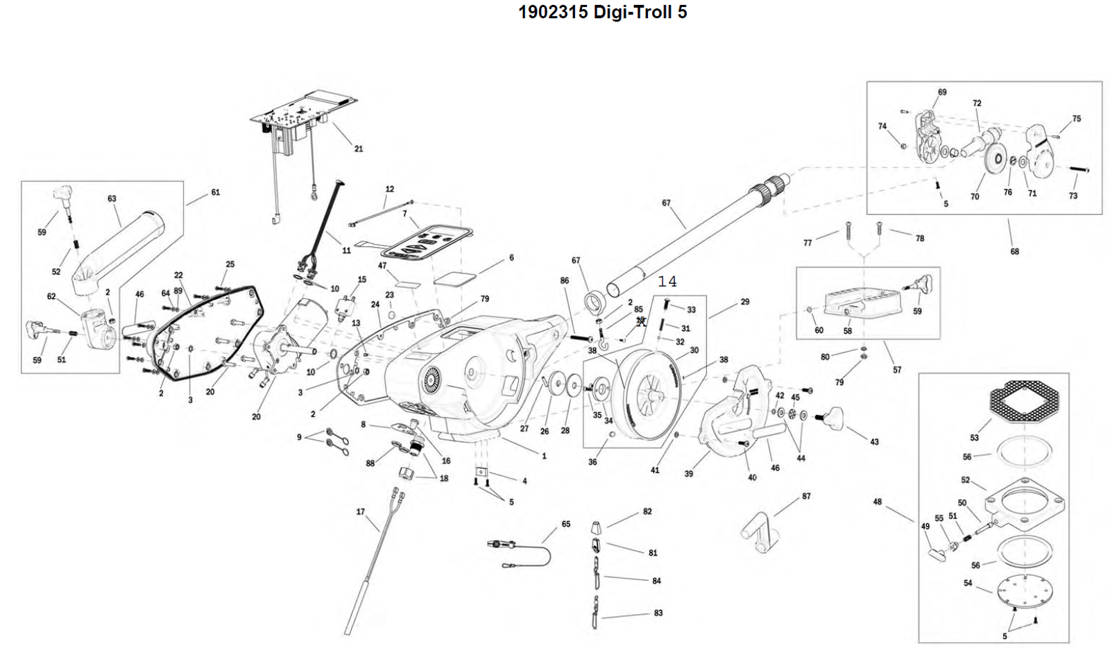 order cannon digi troll 5 electric downrigger parts from fish307 Led Lights Wiring Diagram expand product diagram