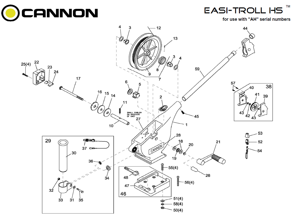 Order Cannon Easi-Troll HS Parts Online at FISH307 com