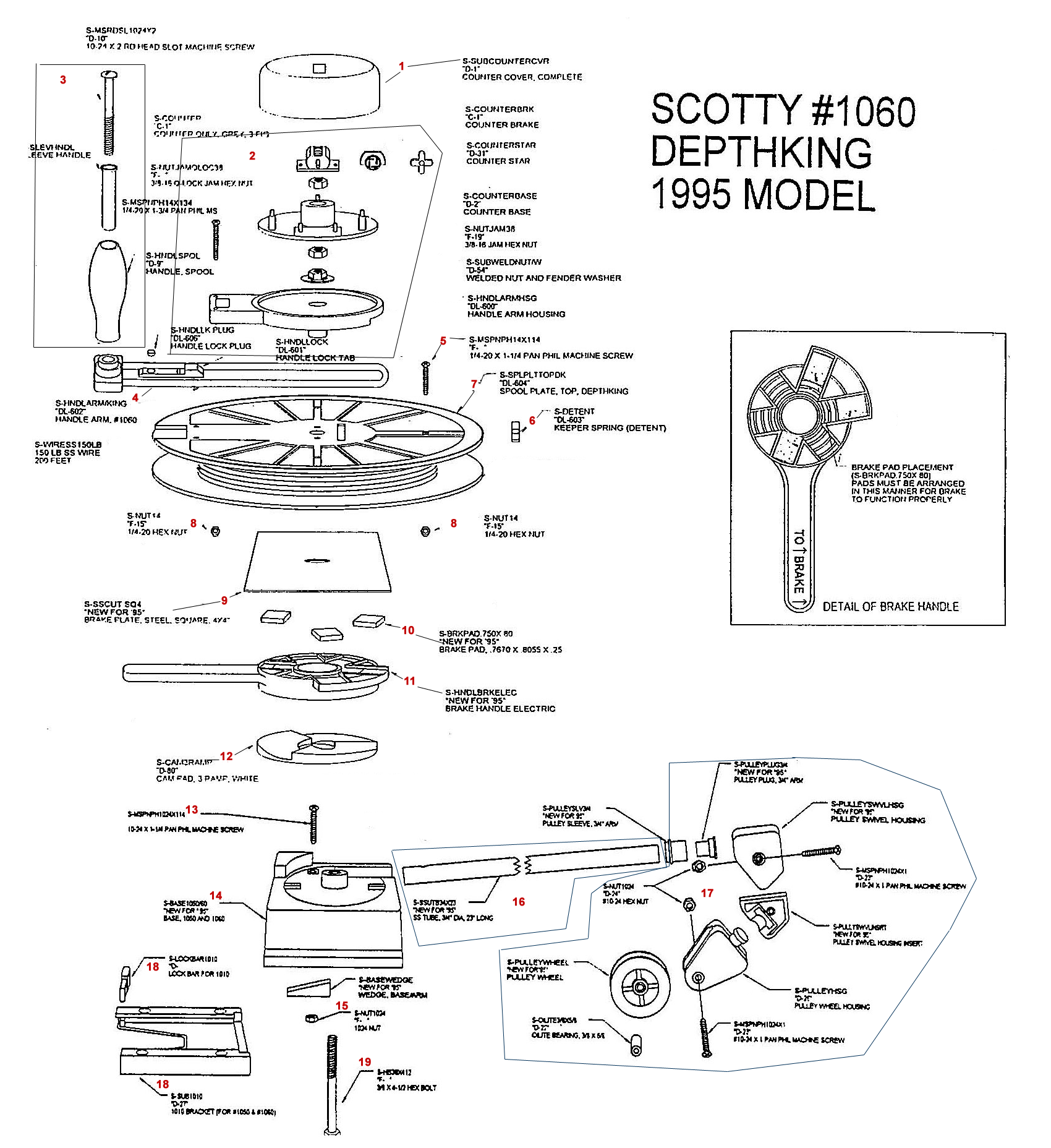 Order Scotty 1060 Manual Downrigger Parts From Fish307 Com