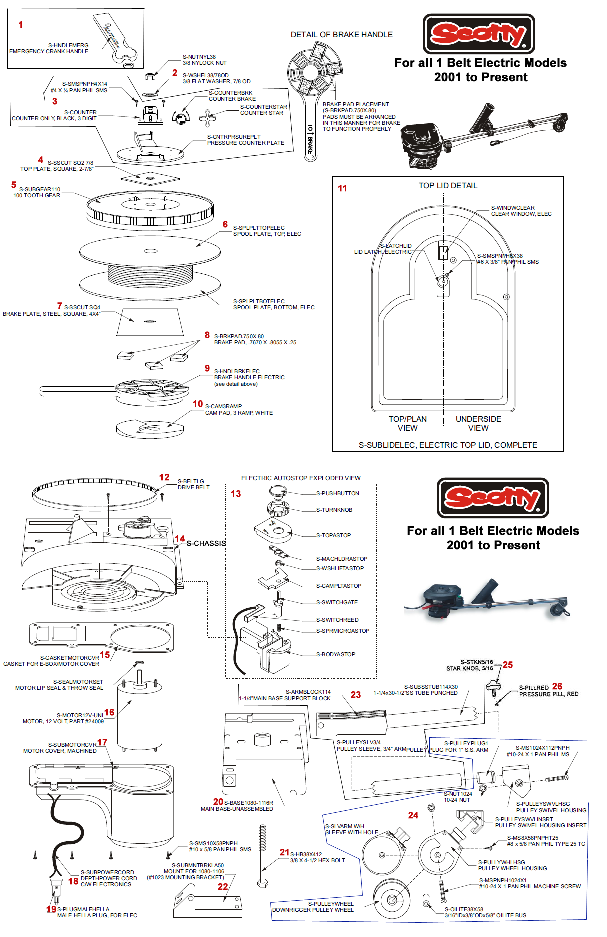 Order Scotty Electric Downrigger Parts Online From Fish307 Com With Our Easy Schematic System