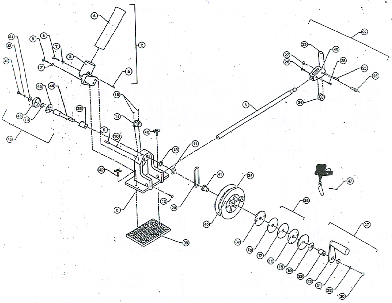 Order Walker Lakemaster Manual Downrigger Parts Online