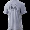 Huk Performance Badge Tee - Sharkskin Heather