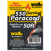 Fire Paracord 4mm X 50'