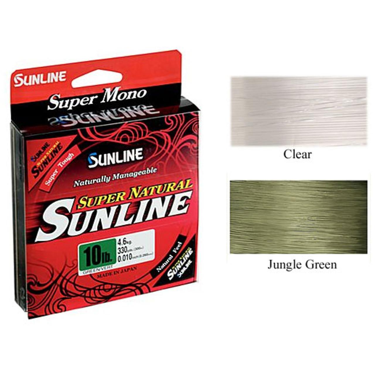 330 yd Sunline Super Natural Monofilament 16 lb Clear Line