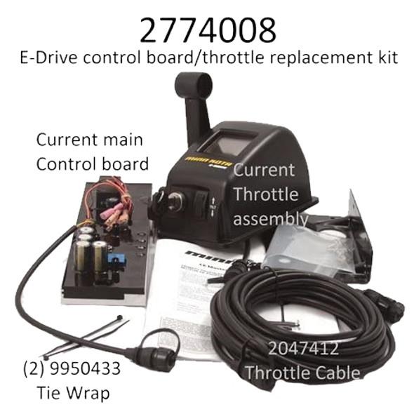 Minn Kota Trolling Motor Part - CTRL BRD/THROTTLE CBL ASY,E-DR - 2774008