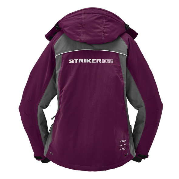 Striker Ice - Women's Prism Jacket - Marsala / Gray
