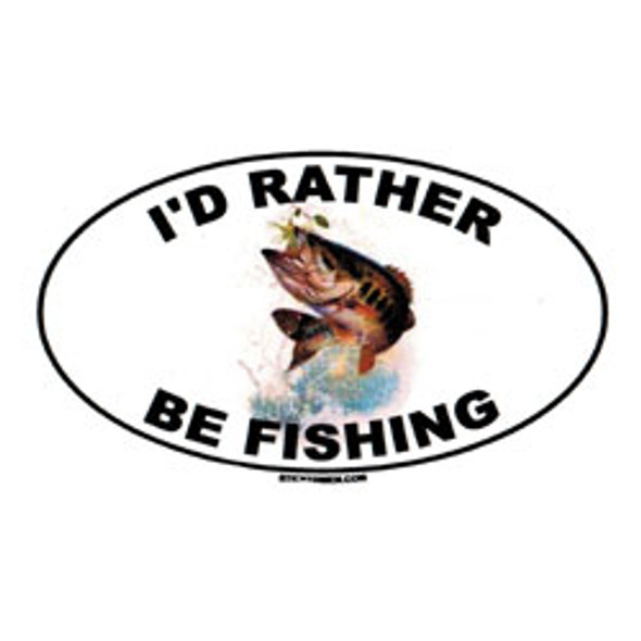Decal - I'd Rather Be Fishing