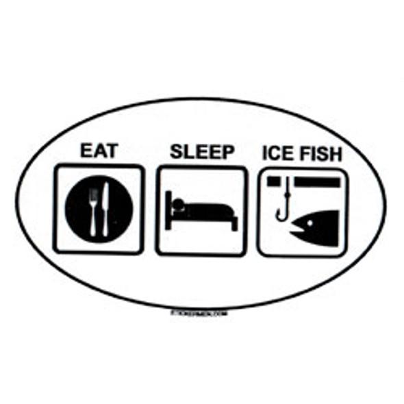 Decal - Eat, Sleep, Ice Fish
