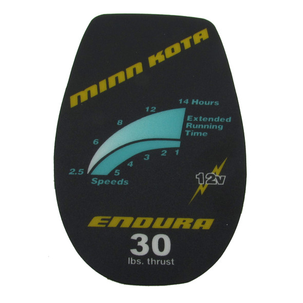 Minn Kota Trolling Motor Part - DECAL COVER ENDURA 30 - #2065532 (2065638)