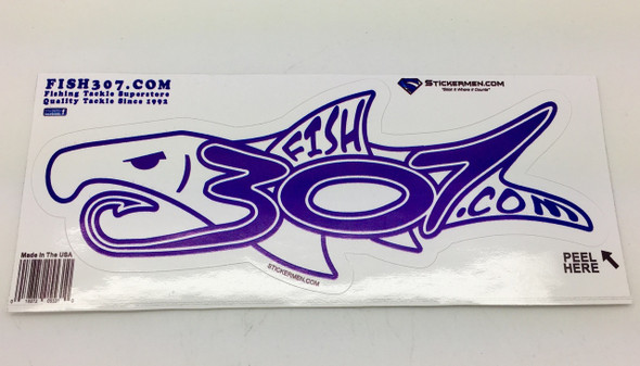 "FISH307.com Logo Sticker - 6"" X 2"""
