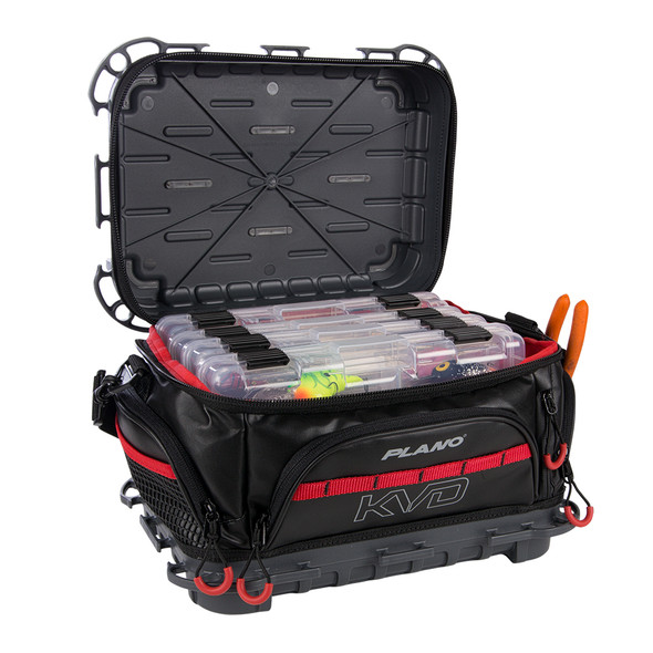 Plano KVD Signature Tackle Bag 3600 - Black\/Grey\/Red