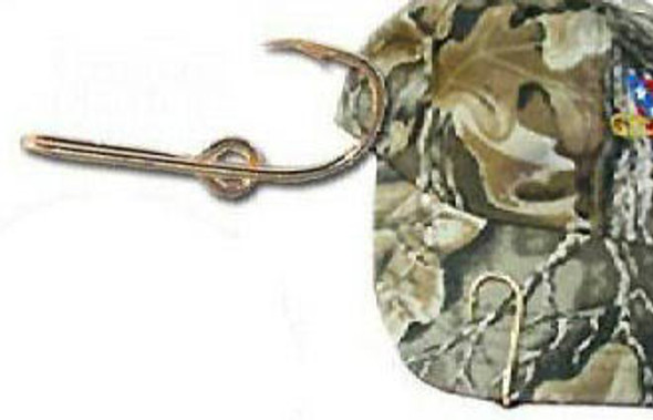 Hat Fishing Hook & Tie Clasp Single