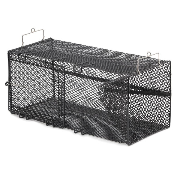 "Frabill Black Crawfish Rectangular Trap - 8"" x 8"" x 18"" - 71562"